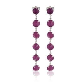 Kolczyki wiszące kryształy fiolet 53/157 EA3232