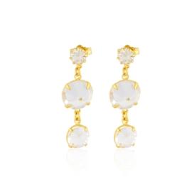 Kolczyki wiszące kryształy 3,5cm 50/201 - EA3269