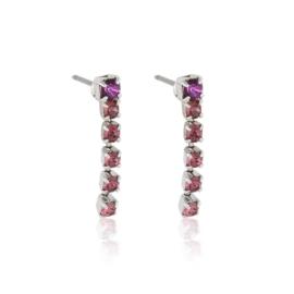 Kolczyki wiszące dżety fiolet 48/7 - EA3271
