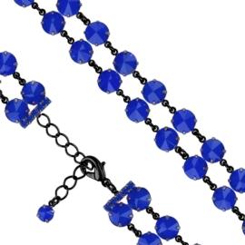 Bransoletka kryształy niebieski 53/128 - BRA2666