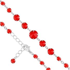 Bransoletka kryształy czerwień 53/268 - BRA2667