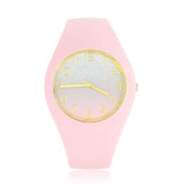 Zegarek silikonowy - jasny róż - Z1521