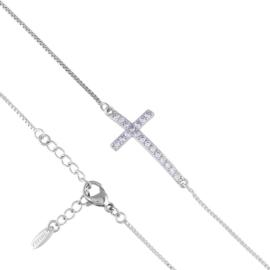 Bransoletka celebrytka - krzyżyk - Xuping BP6306