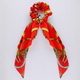 Gumka owijka z apaszką - czerwona - OG653