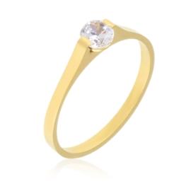 Pierścionek stalowy z kryształkiem Xuping PP2670