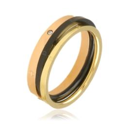 Pierścionek stalowy potrójny - Xuping PP2671