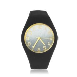Zegarek silikonowy - black glitter - Z1550