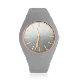 Zegarek silikonowy - gray glitter - Z1551