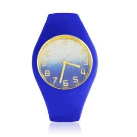 Zegarek silikonowy - cobalt glitter - Z1552