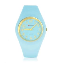 Zegarek silikonowy - baby blue - Z1553