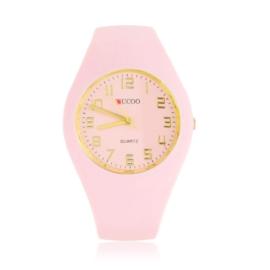 Zegarek silikonowy - light pink - Z1554