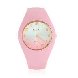 Zegarek silikonowy - brudny róż - Z1555