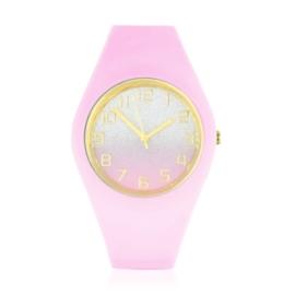 Zegarek silikonowy - neonowy róż - Z1556