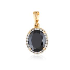 Przywieszka z kamieniem - black - Xuping PRZ2477