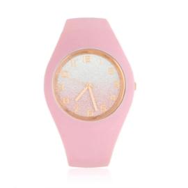 Zegarek damski silikonowy - różowy - Z1573