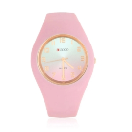 Zegarek damski silikonowy - różowy - Z1574