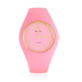 Zegarek damski silikonowy - różowy - Z1575