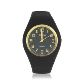 Zegarek damski silikonowy - czarny - Z1576