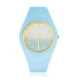 Zegarek damski silikonowy - błękitny - Z1577