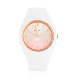 Zegarek damski silikonowy - biały - Z1578