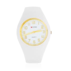 Zegarek damski silikonowy - biały - Z1579