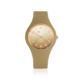 Zegarek damski silikonowy - brązowy - Z1581