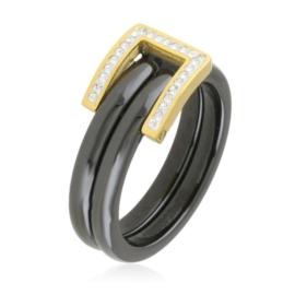 Pierścionek ceramiczny - pasek- PP2678