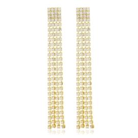 Kolczyki dżety wiszące gold 7,5cm 53/118 - EA3284