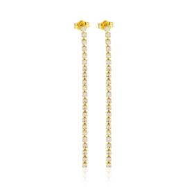 Kolczyki dżety wiszące gold 7,5cm 53/95 - EA3285