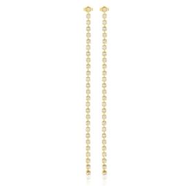 Kolczyki dżety wiszące gold 17cm 53/234 - EA3286