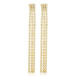 Kolczyki dżety wiszące gold 7,5cm 53/115 - EA3287