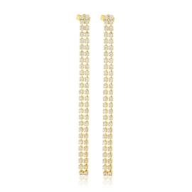 Kolczyki dżety wiszące gold 7,5cm 53/92 - EA3288