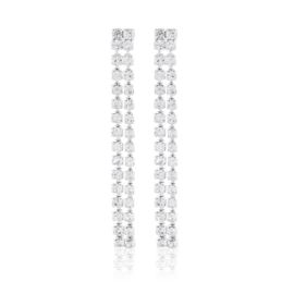 Kolczyki ślubne dżety wiszące 4,5cm 53/91- EA3290