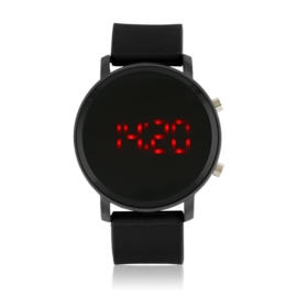 Zegarek LED na silikonowym pasku - czarny Z1582