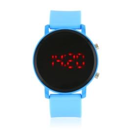 Zegarek LED na silikonowym pasku niebieski Z1583