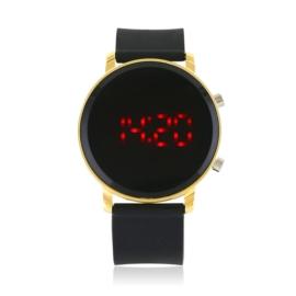 Zegarek LED na silikonowym pasku czarny Z1584
