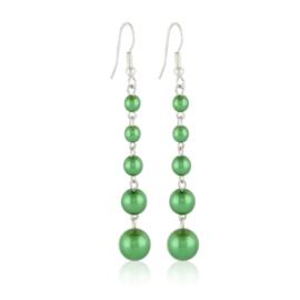 Kolczyki perła zielona czeska 53/207 - EA3295