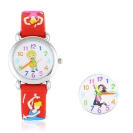 Zegarek dziecięcy baletnica - czerwony Z1601