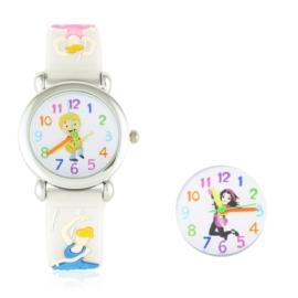 Zegarek dziecięcy baletnica - biały Z1602