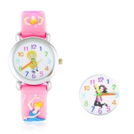 Zegarek dziecięcy baletnica - biały Z1603