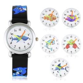 Zegarek dziecięcy rekin - czarny Z1604