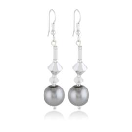 Kolczyki wiszące czeskie perła 50/148 EA3308