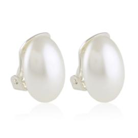 Klipsy czeskie perła owalna 1,5cm 43/106 EA3310