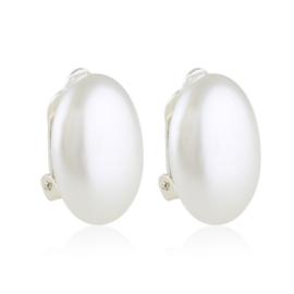 Klipsy czeskie perła owalna 2cm 43/105 EA3311