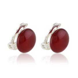 Klipsy czeskie perła czerwona 1,2cm 43/107 EA3319
