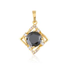Przywieszka z czarnym kamieniem - Xuping PRZ2509