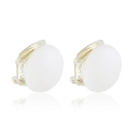 Klipsy czeskie perła biała ml. 0,8cm 43/106 EA3323