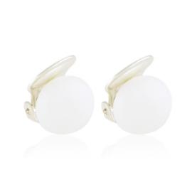 Klipsy czeskie perła biała ml. 0,5cm 43/107 EA3324
