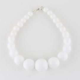 Bransoletka perły białe stopniowane 43/72 BRA2762