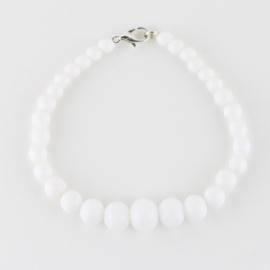 Bransoletka perły białe stopniowane 43/69 BRA2763